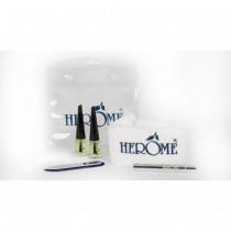 Herome Minis Gift Set, Extra Strong Nail Hardener, Mini Nail File, Nourishing Nail Oil, Wonderpen Cuticle Night Repair + Towel