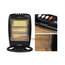 Daewoo 1200w 3 Bar Portable Electric Oscillating Halogen Heater For Home Office - HM15