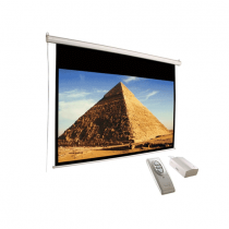 "Conqueror Motorized Projection Screen  136""  -  HPSC23"