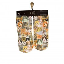 Odd Sox Cats Footies Socks
