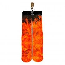 Odd Sox Fire Red Socks