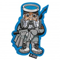 5-11 Men's Tactical Navy Seal Gnome Patch- Grey& Blue