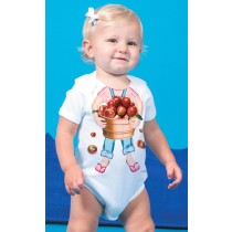 Just Add a Kid, Romper Apple Girl , 1-2 years
