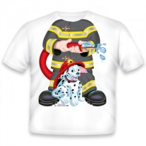 Just Add a Kid, T,Shirt Firefighter Dog Black , 4-5 years