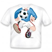 Just Add a Kid, T,Shirt Soccer Blue Youth ,XS