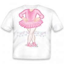 Just Add a Kid, T,Shirt Ballerina Pink , 3-4 years
