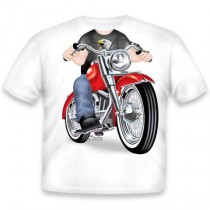 Just Add a Kid, T,Shirt Biker Fat Boy , 3-4 years