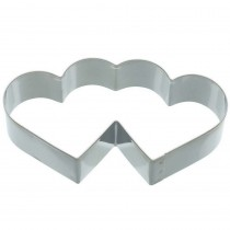 KitchenCraft, Double Heart Shaped Cookie Cutter, 11.5 cm