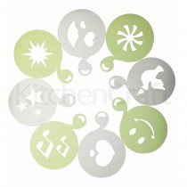 Kitchen Craft, Le eXpress Set of 8 Drinks Stencils