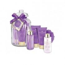Grace Cole Lavender & Honeysuckle- Distinctive Gift Set,  Body Wash 50ml and Body Lotion 50ml, Foam Bath 100ml And Body Lotion 100ml With Body Ball