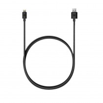 Promate LinkMate-MUL 2-in-1 Heavy Duty Fabric Sync Charge Cable for Lightninh & Micro-USB Devices, Black