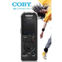 Coby Digital Voice Recorder 8GB Audio Sound Recorder MP3 Player Rechargeable - CVR50