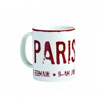 Bitossi Home, Mug Paris, White And Red