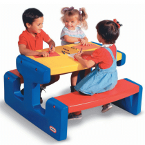 Little Tikes, Large Picnic Table, Primary