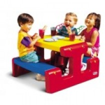 Little Tikes,  Jr Picnic Table,  Primary,  Table