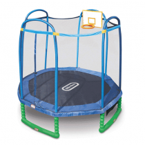 Little Tikes 10foot Sports Trampoline with Enclosure and Basketball Hoop
