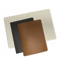 OPP Paper Concept, Set of 2 Soft Inside Plain Lined Notebook, Brown and Camel, 19 x 25 cm