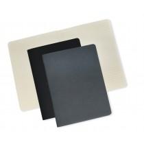 OPP Paper Concept, Set of 2 Carton Inside Plain Lines Notebook, Grey and Black, 19 x 25 cm