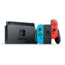 Nintendo Switch, 32 GB, Neon Blue and Neo Red Joy-Con With FREE Bag and Screen Protector