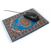 Top Mouse Pad Blue Carpet Design