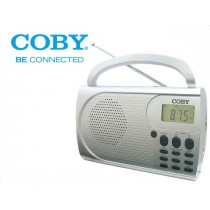 Coby AM / FM Radio Portable with Alarm Clock - CXR500