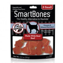 SmartBones Beef  classic bone chews, Small, 6 pieces