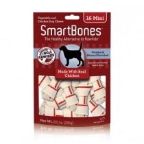 SmartBones Chicken classic bone chews, Mini, 16 Pieces