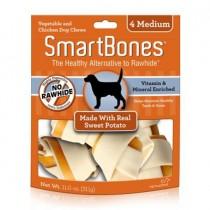 SmartBones Sweet Potato classic bone chews, Medium, 4 pieces
