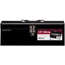 Stack-On, SHB19 41 cm All-Purpose Tool Steel Tool Box, Black