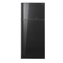 Sharp 2 Doors Refrigerator 649 Liters Glass Black