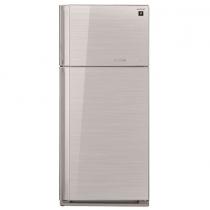 Sharp 2 Doors Refrigerator 649 Liters Glass Silver