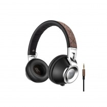 Promate Thump Comfort-Fit On-Ear Stereo Wired Headset, Brown