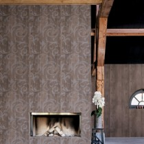 BN Wall Coverings, Wallpaper Curls Design Color Light Grey