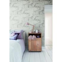 BN Wall Coverings, Wallpaper Bark Design Color Light Grey