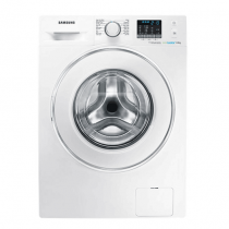 Samsung, Front loading washer with Eco bubble, 7 kg, White - WF80F5E2W4W/FH