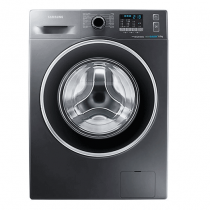 Samsung Front Load, Eco Bubble, 8KG, Silver - WF80F5EHW4X/FH
