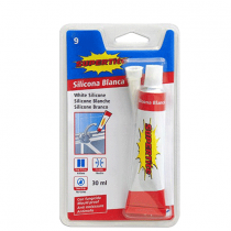Supertite, Blister White Silicone Glue, 30 Ml, Pack of 6