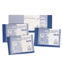 Bassil, Receipt Book, 25 Sheets, Pack of 6 Blue