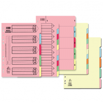 Argos, Divider Carton A4, 6 Parts, Pack of 12