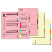 Argos, Divider Carton A4, 10 Parts, Pack of 12