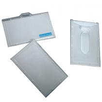 Bindermax, Name Badge Plastic, Clear, Pack of 1
