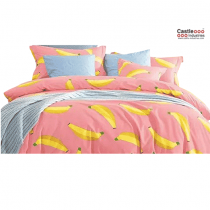 Home Design, Banana, Bed Set, 100 percent Cotton