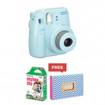 Fujifilm Instax Mini 8 Instant Camera + Instant Photo Album + Instax Mini Film White/Black/Blue/Pink