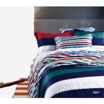 Home Design, Bed Set, 100 percent Cotton, King/Double/Single Colourful Stripes