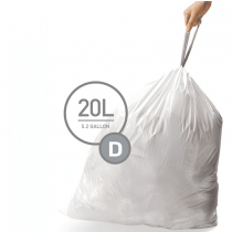 simplehuman Custom Fit Can Trash Liner D, 20L