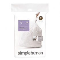 simplehuman Custom Fit  Trash Can Liner F, 25L