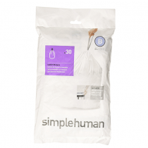 simplehuman Custom Fit Trash Can Liner G, 30 L 30 Bags
