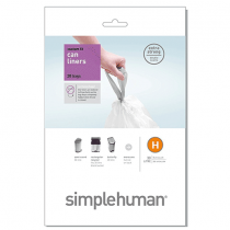simplehuman Custom Fit Trash Can Liner G, 30 L 20 Bags