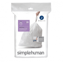 simplehuman Custom Fit Trash Can Liner J, 30/40 L