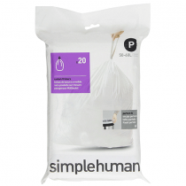 simplehuman Code P Custom Fit Trash Can Liner, 1 refill pack (20 liners), 50 -60 L